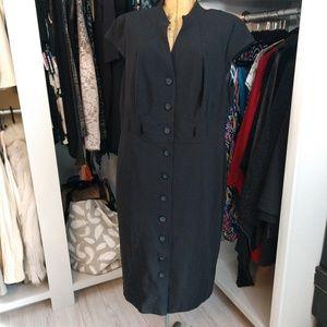 Calvin Klein Cap Sleeve Button Down Dress